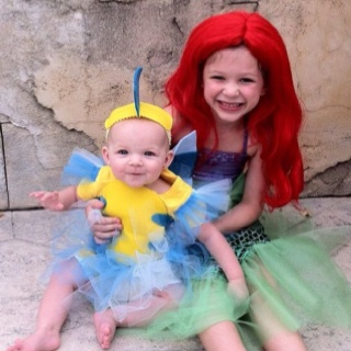 Ariel and Flounder costumes, Halloween 2011