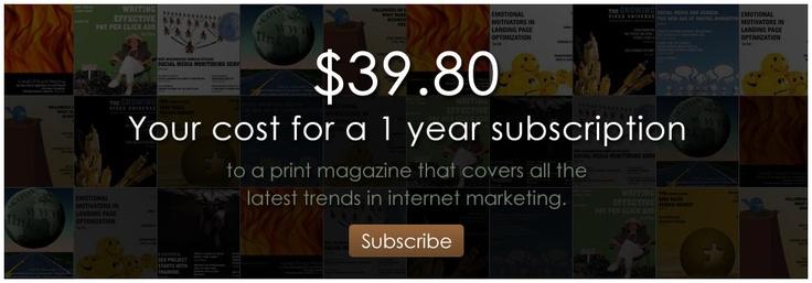The magazine internet marketing.