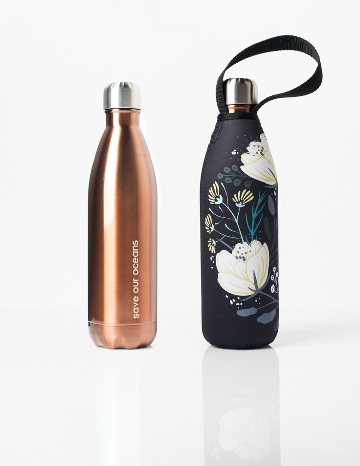 'Future' 25 oz Copper Travel Bottle and 'Orient' Carry Cover by BBBYO