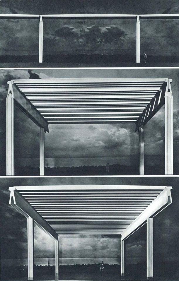 Modelli di strutture industriali prefabbricate, Angelo Mangiarotti, 1978
