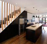 Art of Kitchens design, CaesarStone bench, island, industrial finish, sleek, modern