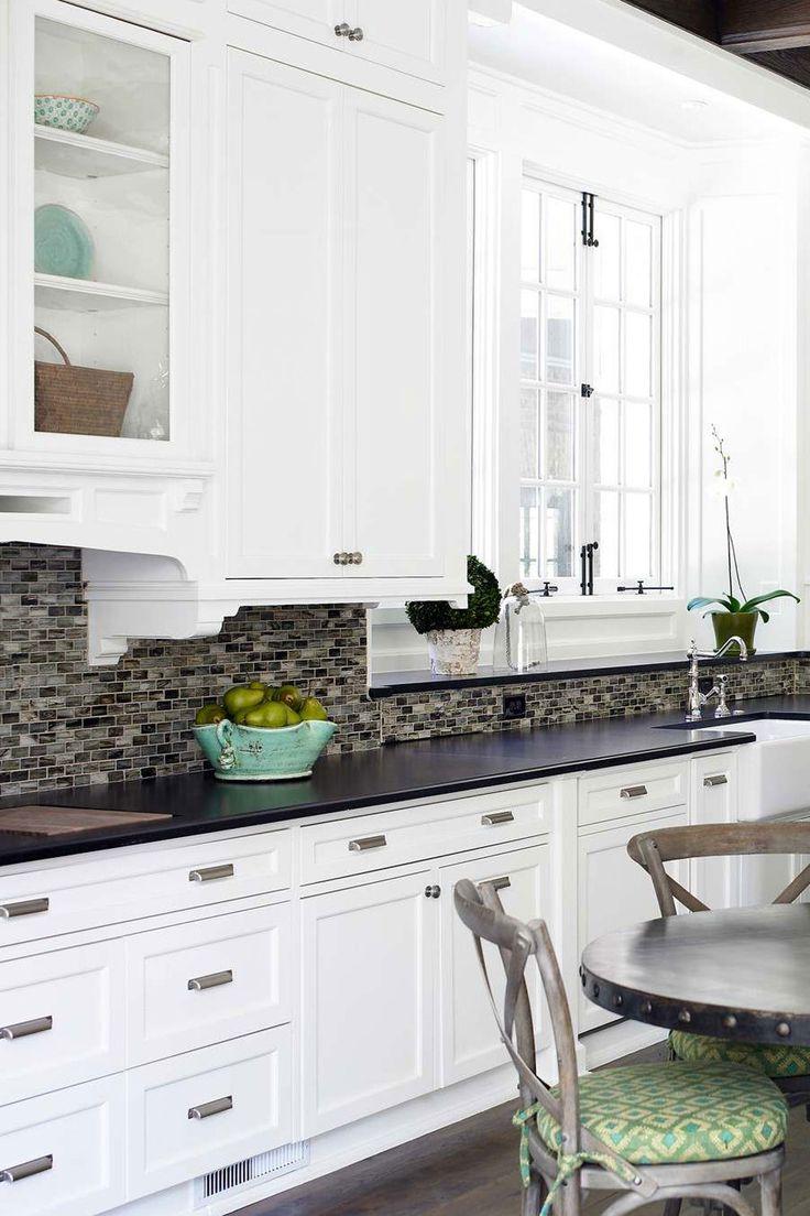 50+ Black Countertop Backsplash Ideas (Tile Designs, Tips ... on Backsplash Ideas For Black Countertops  id=16419