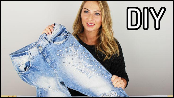 DIY: Sposób na jeansy   Jak przerobić stare spodnie - Domodi.TV