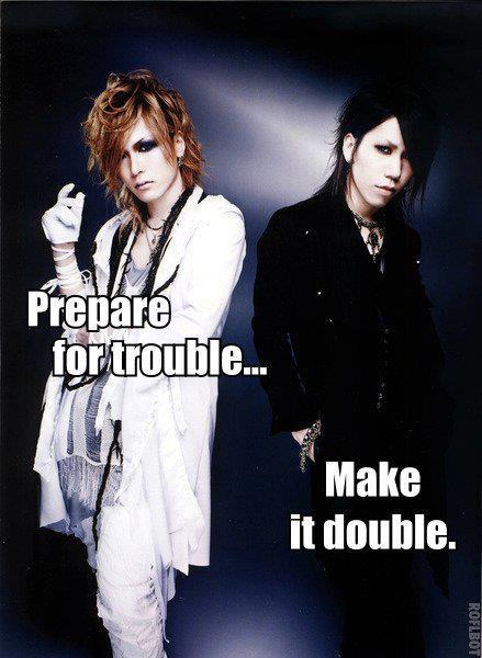 Uruha. Lead Guitar. Aoi. Rhythm Guitar. The GazettE. Team Rocket reloaded.