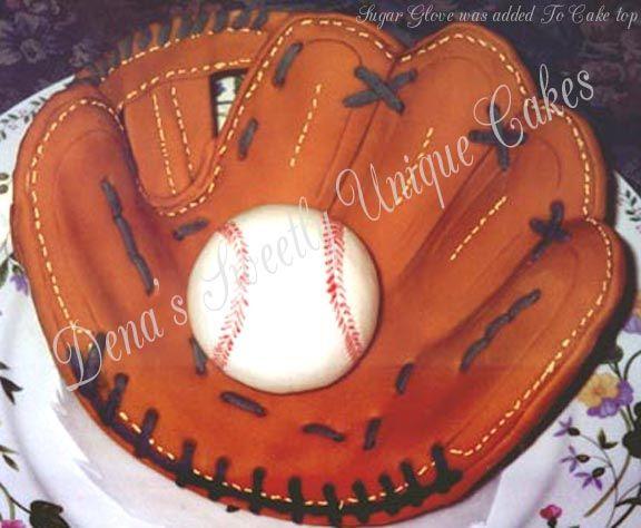 Cake Baseball Glove more at Recipins.com                                                                                                                                                                                 More