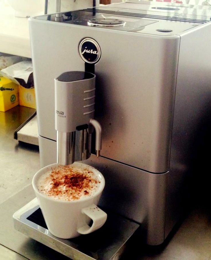 New espresso machine! Time for a tasty cappuccino! #Mykonos #CarbonakiHotel