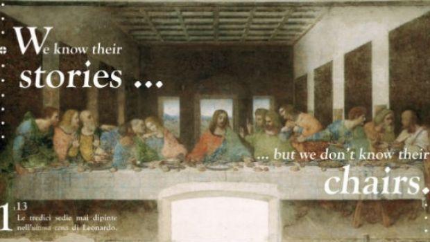 Salone del Mobile 2013, le tredici sedie mai dipinte dell'Ultima cena di Leonardo