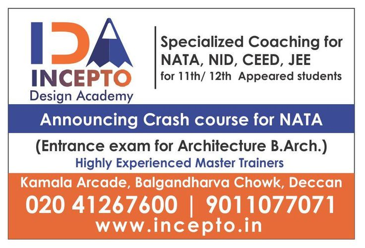 #InceptoDesignAcademy (#IDA) introducing #NATA_Course of free hand sketching training for #NATA_Exam http://incepto.in/
