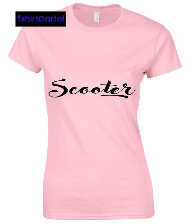 Scooter Pink Shirt  #shirt #tshirt #t-shirt #clothing #DTG #DTGprinting #fashion #design #hoodie #jumper #sweatshirt