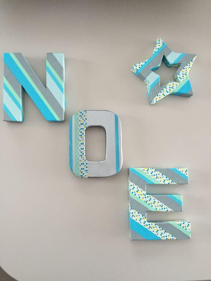 Lettres en Masking tape