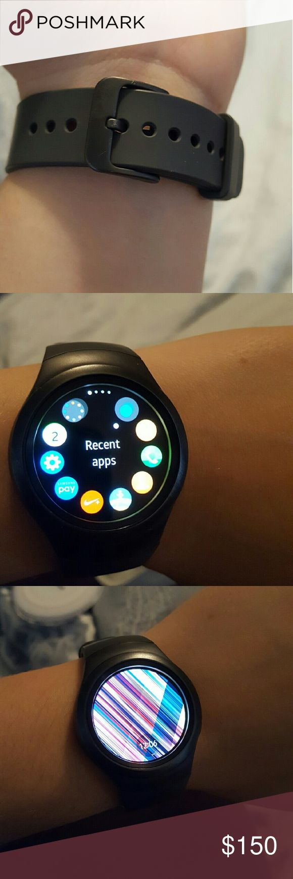 Samsung Galaxy Gear 2 smart watch NWOT Black gear 2 watch, works great and looks flawless. Charger Included. samsung Other