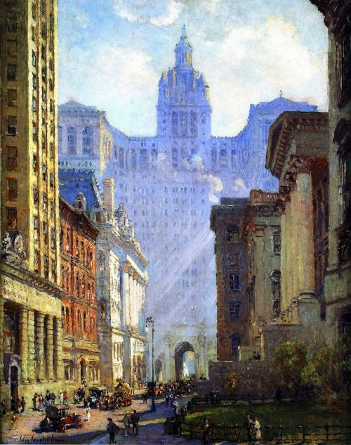 Colin Campbell Cooper,Chambers Street and the Municipal...