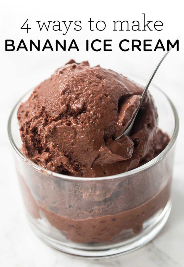 How To Make Banana Ice Cream 4 Flavors Simply Quinoa Recipe In 2020 Vegan Desserts Ice Cream Banana Ice Cream
