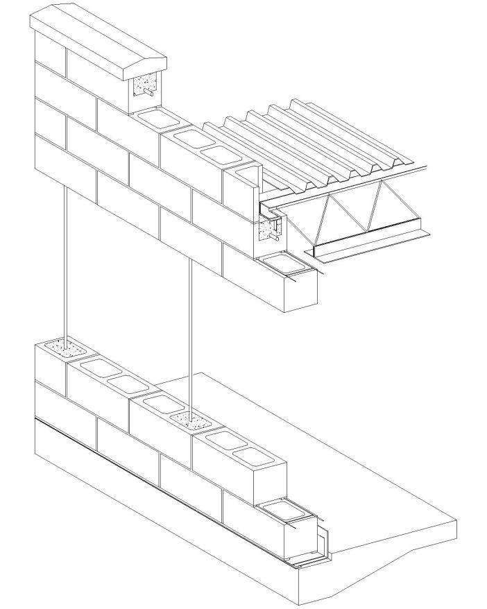 Concrete Masonry Units Open Web Joist Ceiling Image