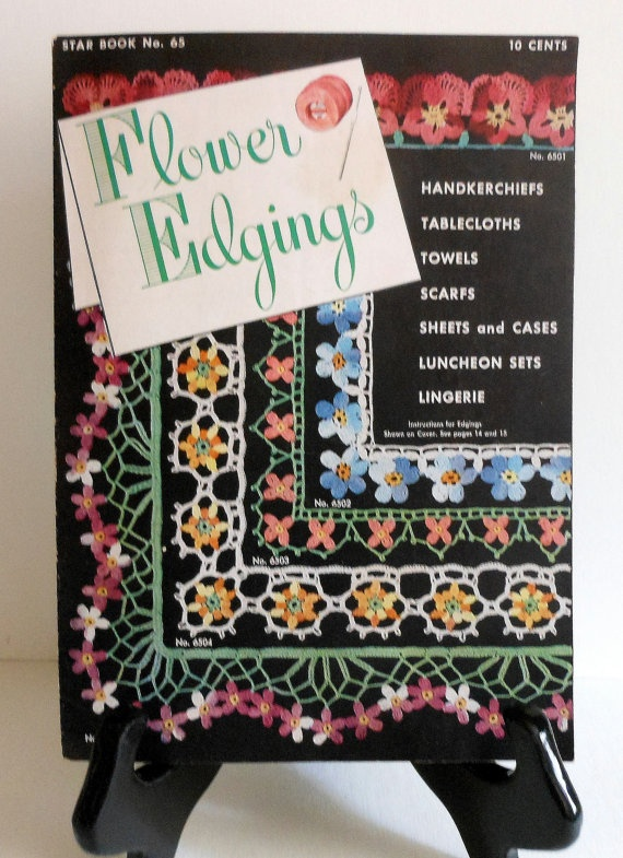#Crochet #Edgings   Vintage Crochet Floral Edgings Patterns