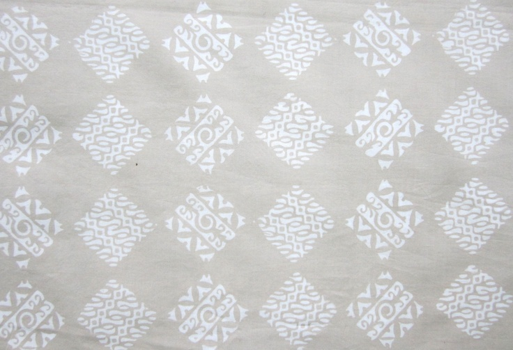 #Indonesian block print #batik. Natural dye made from tree bark.
