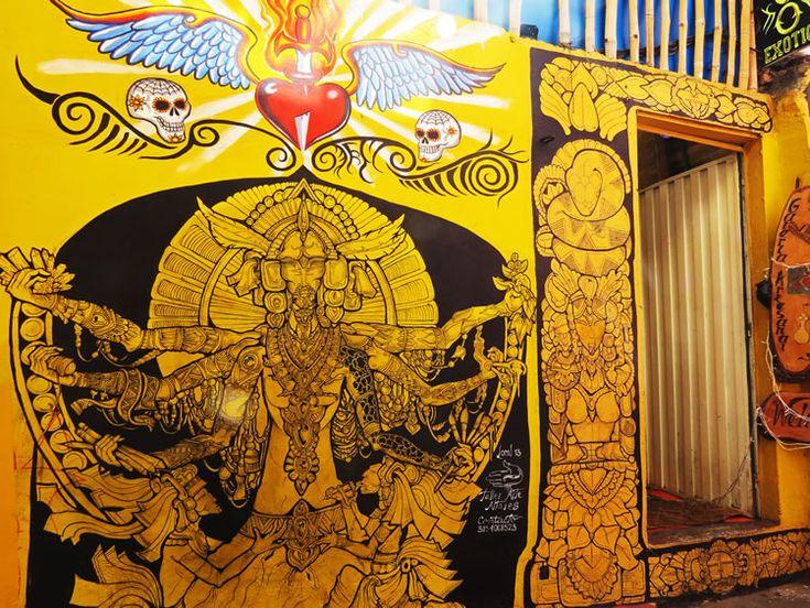 Mural en una casa de tatuajes