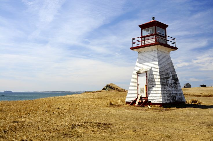 Old lighthouse on Cap aux Meules on Iles des Madeleine, Canadian Maritimes