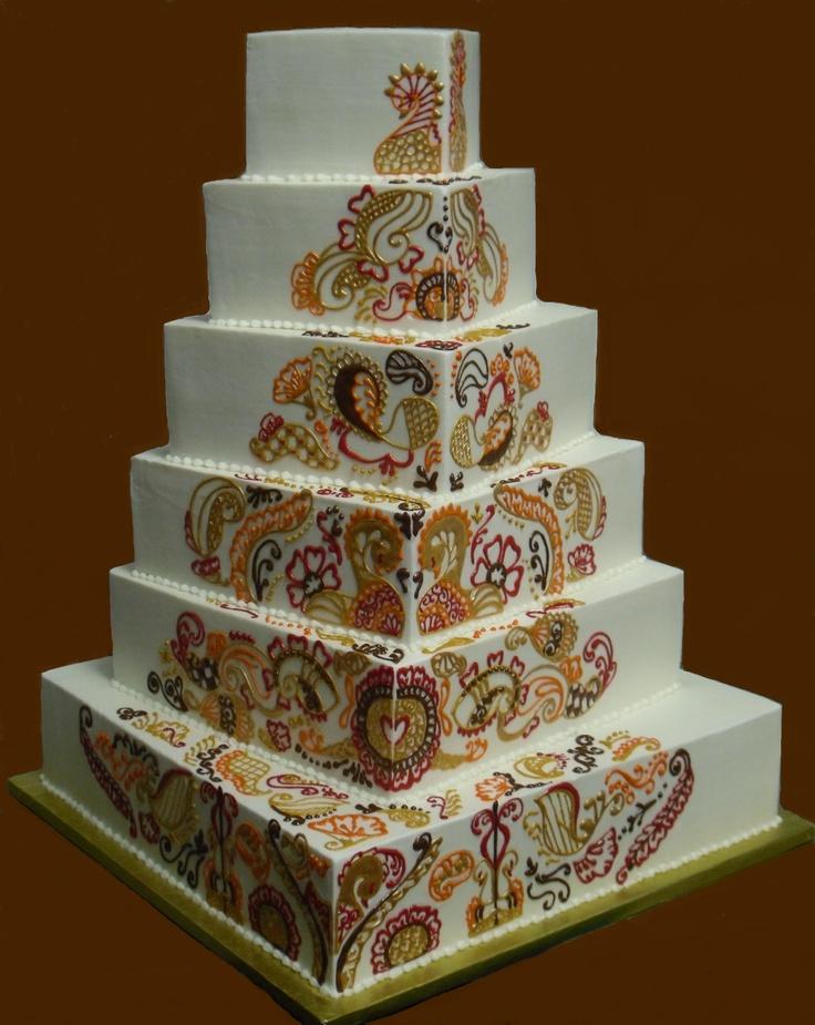 Mehndi Cake Qc : Henna inspired wedding cake pinterest