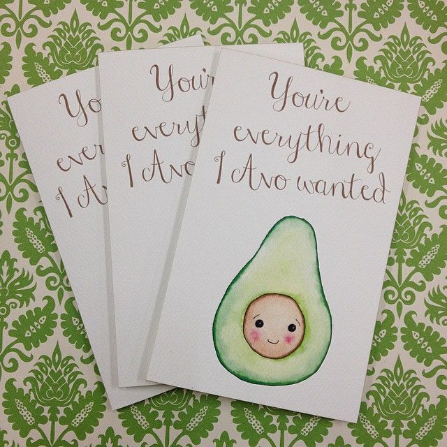 Punny cards from www.thepaperempire.com.au Avocado pun - Valentine Day Card