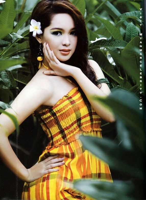 Moe Yu San in Random Traditional Costume and Model Fashion - Sexy Myanmar Gilrs, Model, Actress and Singer