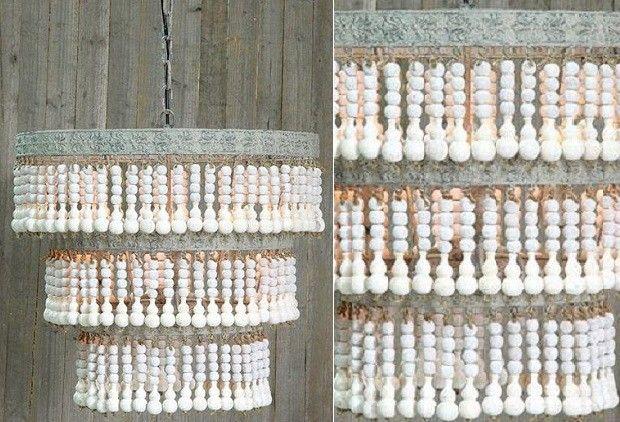 Wood Beaded Light Fixture: 17 Best Ideas About Wood Bead Chandelier On Pinterest