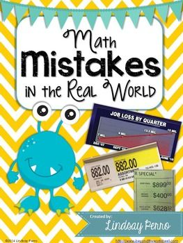 math worksheet : math mistakes in the real world : Real World Math Worksheets