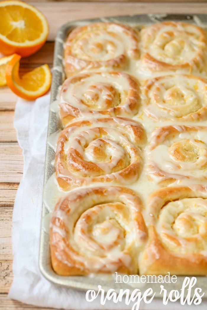 Homemade Orange Rolls - one of our favorite morning treats! Everyone loves this delicious recipe! { lilluna.com }