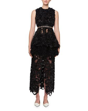 Sleeveless Irish Lace Peplum Top and Matching Items by Proenza Schouler at Bergdorf Goodman.