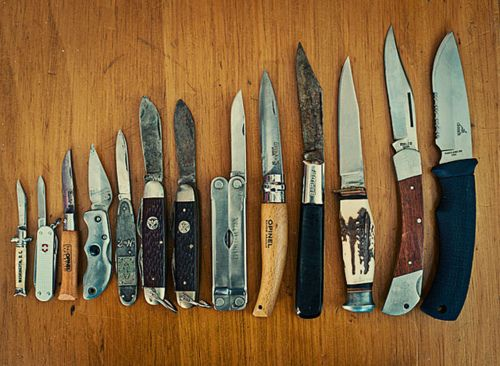 A man can never have too many knives.