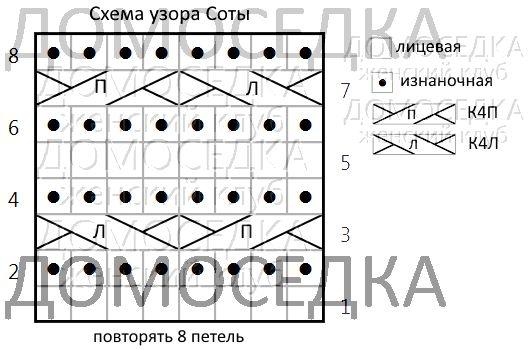 shema uzora sotyi   Домоседка