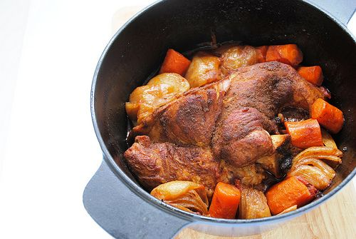Pá de porco no forno (slow cooking)