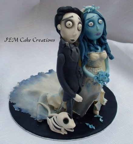 Corpse Bride Cake by JEMCakeCreations