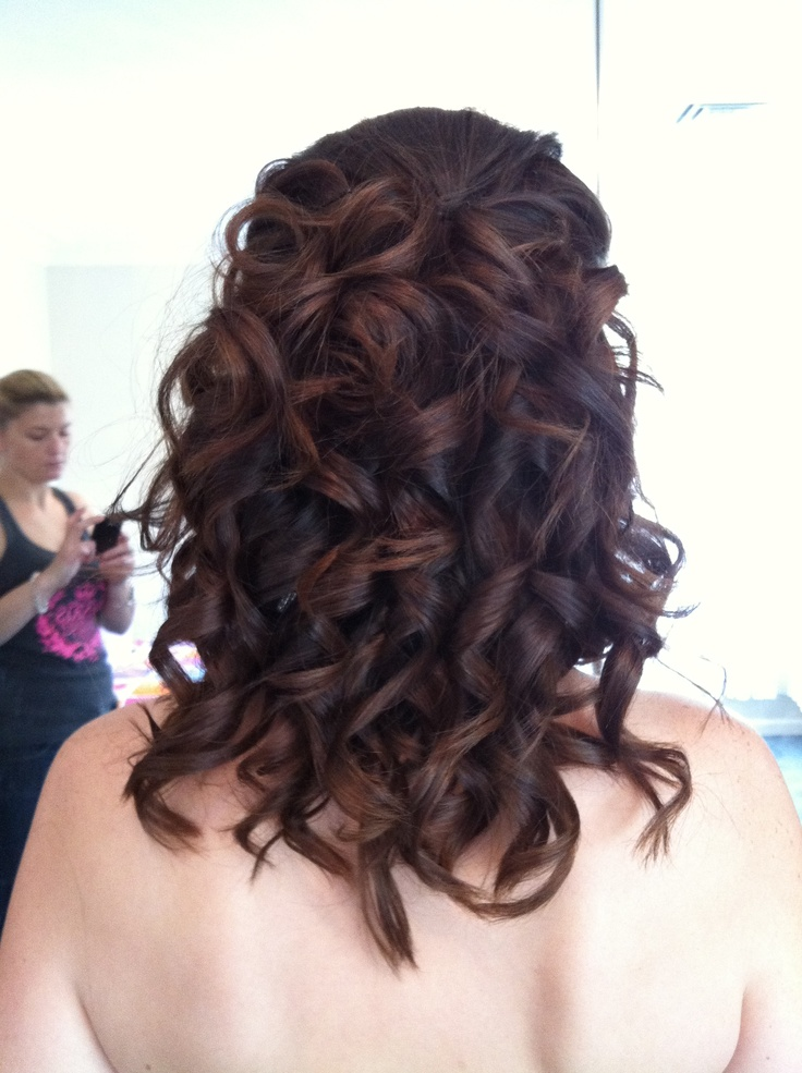 ghd curls...with pieces pinned in.