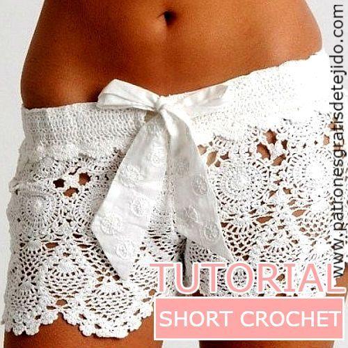 short tejido a crochet