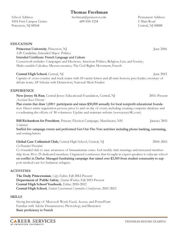 Resumes For High School Students Student Resume Student Resume Template College Resume Template