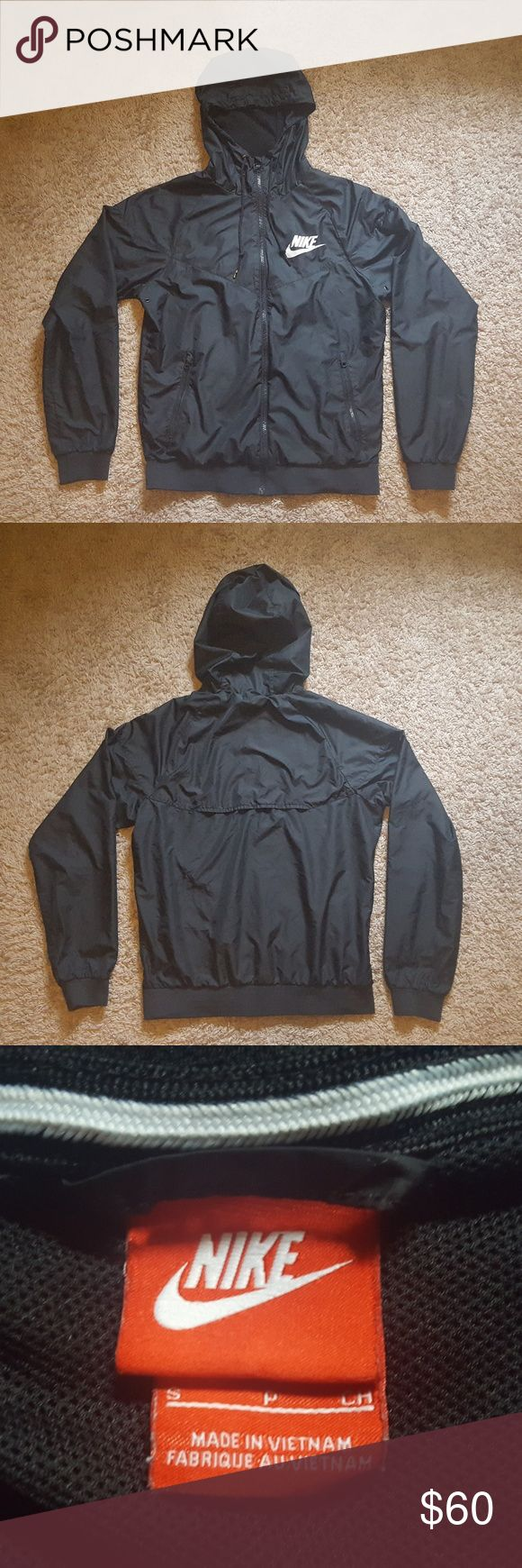 Nike Windrunner Black Jacket Authentic Nike Windbreaker  All Black Nike Jackets & Coats Windbreakers