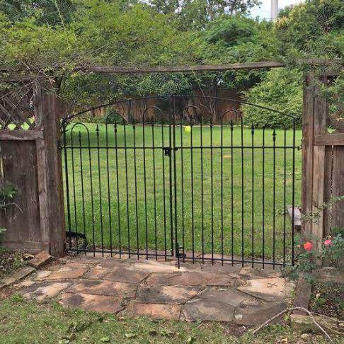 Wrought Iron Wide Courtyard Gate - 5 x 7