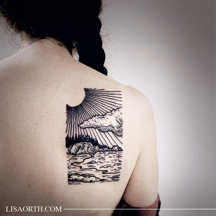 27 Awesome Picturesque Landscape Tattoo Designs: Best 25+ Landscape Tattoo Ideas On Pinterest