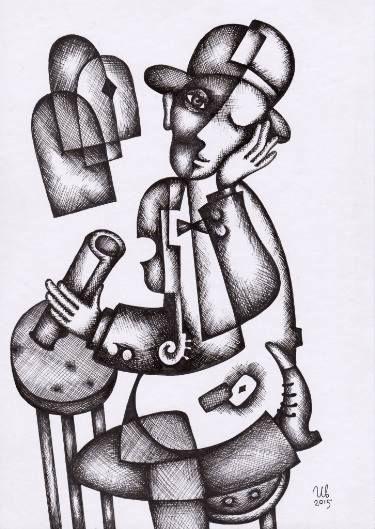 Two Cards by #eugeneivanov, 29 X 41 cm, $235.  #@eugene_1_ivanov #modern #original #ink #painting #hipster #sale #art_for_sale #original_art_for_sale #modern_art_for_sale #ink_drawing_for_sale #art_for_sale_artworks #art_for_sale_ink #art_for_sale_artist #art_for_sale_eugene_ivanov #abstract #best_abstract_art #best_abstract_ink