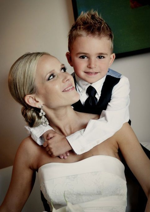 Image result for bride with young son