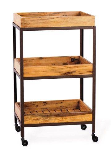 Bar cart?  Never Ordinary Decor Wooden Wheeled Tray Cart by Foreside Home & Garden on @HauteLook