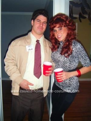 Homemade Al and Peg Bundy Couple Costume: My and my finance came up with this idea of a Homemade Al and Peg Bundy Couple Costume watching old re-runs of Married with Children on TV.  Al's Costume
