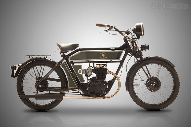 Vintage style: the new-but-old Black Douglas 'Sterling' motorcycle. Yours for around $10,200.