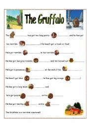 English teaching worksheets: The Gruffalo