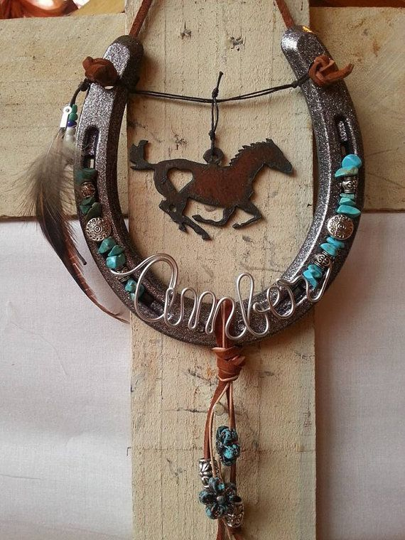 Decorated Horseshoe, Personalized Gift, Equestrian Gift, Horseshoe Decor, Cowgirl Gift, Horse Decor, Horseshoe Art, Horselover Gift