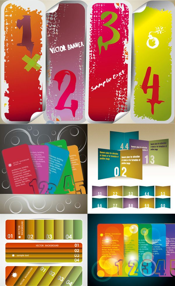 Gorgeous color banner design