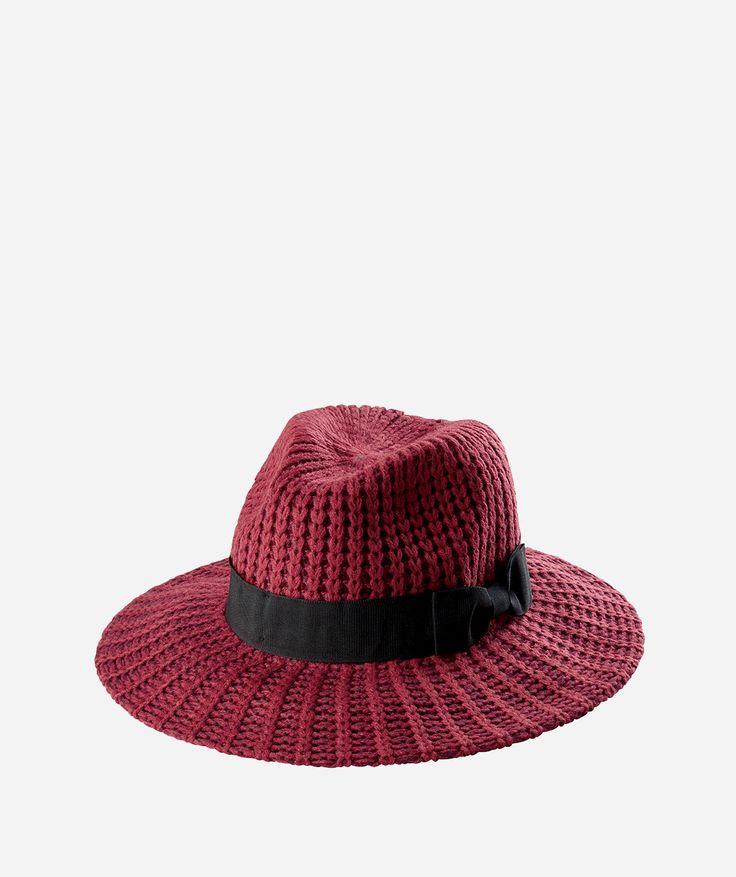 Womens Woven Yarn Stitch Fedora