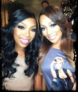 brandy norwood | monica arnold  Two of our most beautiful sisters!!!! Get these looks at www.tmghairextensions.com