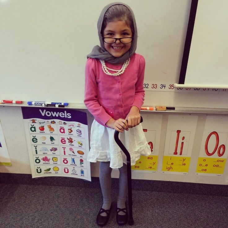 100th day of school - 100 year old costume idea. Baby powder in hair, - 23 Best Bold People Images On Pinterest